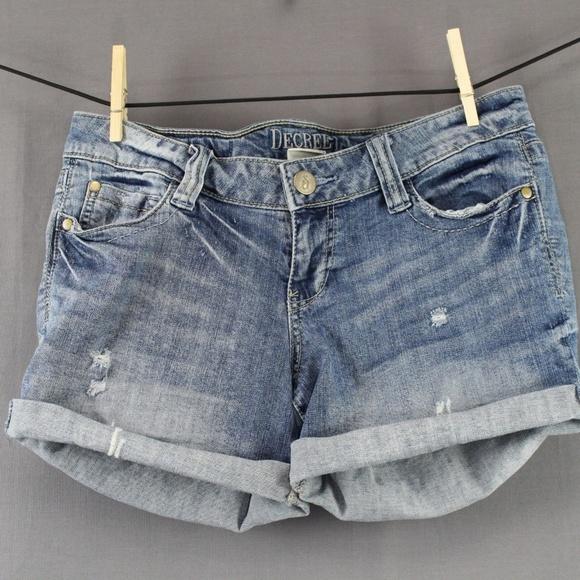 dda303af74 Decree Shorts   Size 9 Blue Juniors Distressed Denim   Poshmark